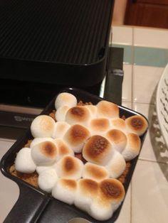 S'mores on the raclette http://cmerkel.velata.us
