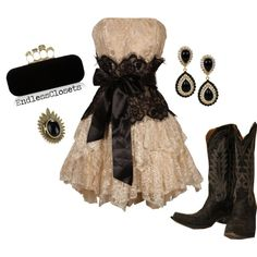"""""""Cowboys and Angels"""" by endlessclosets on Polyvore    Love this DRESS!~"""