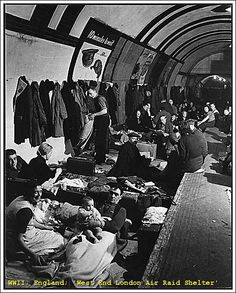 WWII; England; 'West End London Air Raid Shelter'