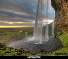 The Seljalandsfoss Waterfall In Iceland #lol