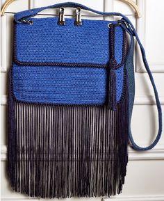 .: Trabalho publicado: Bolsa de crochê com franjas!!!
