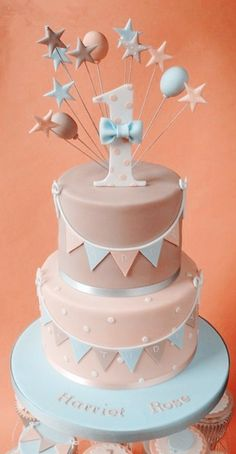 2014 Pastel Pink Birthday Cake Ideas, 1st Birthday Cake, Pastel Cake For Kids