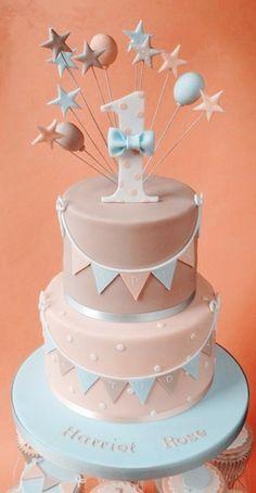 2014 Pastel Pink Birthday Cake Ideas, 1st Birthday Cake, Pastel Cake For Kids