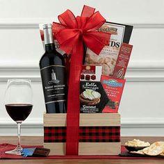 Wine Gift Baskets - Robert Mondavi Private Selection Wine Basket Next Gifts, Wine Gift Baskets, Wine Gifts, Red Wine, The Selection, Alcoholic Drinks, Centerpieces, Treats, Chocolate