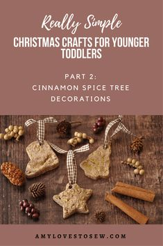 Try this salt dough activity with your toddler to make lovely cinnamon Christmas decorations.  This simple Christmas craft activity is a fun and simple for very young children to do, and you'll have a collection of wonderful keepsakes for years to come. #christmascrafts #toddlerplay