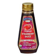 St Dalfour Organic Strawberry Sauce - 10.6 Oz - Case Of 6