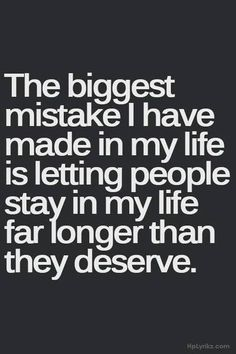 "Probably not THE biggest mistake but definitely top 3! & Lots of ppl on that ""stayed longer than they deserved"" list!"