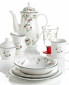 Pfaltzgraff Dinnerware, Winterberry Collection - Holiday Dining - Dining & Entertaining - Macy's