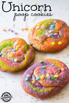 "Make Unicorn Poop Cookies. The other day my daughter walked into the living room, full of giggles. When I asked her why she was laughing all I could get our of her was, ""I know what unicorn poop looks like."" Click now!"