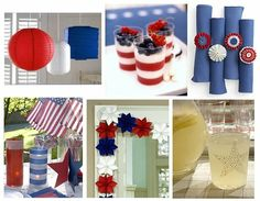 red, white, blue, food, drink, decorations, patriotic, USA, 4th of July