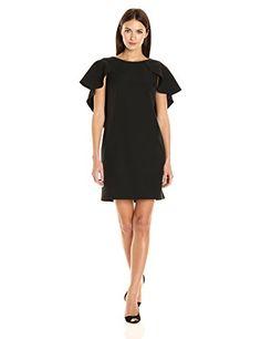 Nanette Nanette Lepore Women's Sheath Dress W/ Flutter Sl...