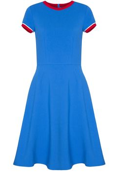 sukienka z lamowkami