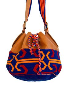 Geourgeos leather bags with wayuutissue by WayOoInternational, 209.00