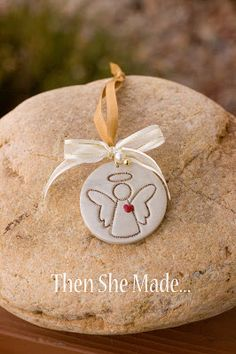 Simple but beautiful! Put a heart on angel. Then maybe paint a verse on the back