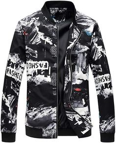 64811753fb LONMMY Bomber jacket men Outerwear Coats Jaqueta masculina Fashion Print Mens  jackets and coats Brand-clothing 2017 Autumn