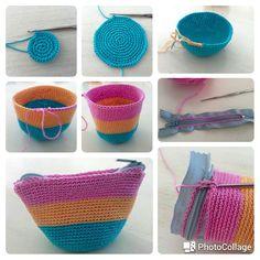 Crochet bag with zipper