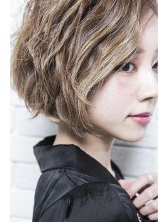 【mielhair新宿】ミルクティーカラー☆モードショートボブ♪