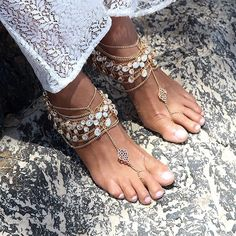 Anklets, Barefoot Sandals, Bridal Shoes for the Bohemian Goddess