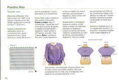 crochelinhasagulhas: Poncho lilás em crochê