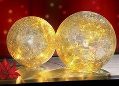 Set of 2 Light Up Glass Balls