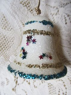 Vintage 1960's Handmade White Christmas Bell by AuntSuesVintage, $3.99