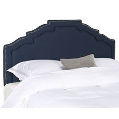 Safavieh Alexia Steel Blue Linen Headboard (King)