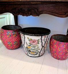 paper mache pots...