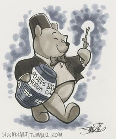 """Doctor Pooh with his infinite amount of """"Huny"""" from any time, any place, any planet. He uses his sonic screwstick to get into the cupboards."""