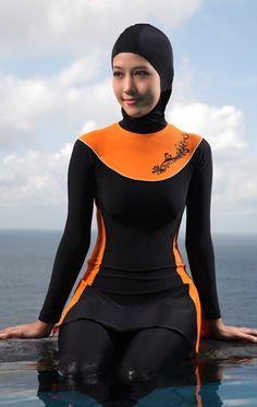 ecf2e518f32 Women modest Swimwear Ladies Three Piece Swimsuit Muslim Bathing Suit Rash  Guard