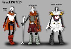 Papyrus references | GZTALE by GolzyBlazey.deviantart.com on @DeviantArt