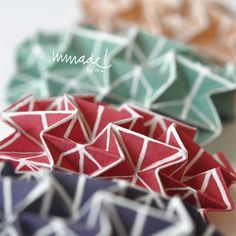 Wearable origami. Hand screen printed on silk. €15.00, via Etsy.