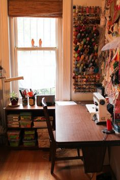 Rebecca Ringquists's work space! Gorgeous via drop cloth