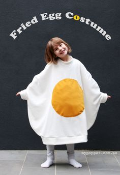Egg-cellent Fried Egg  Halloween Costume | My Poppet Makes