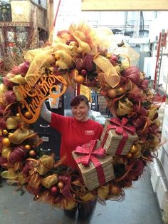 One of my super wreaths from last year....this one was for a local winery.