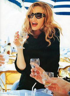 Karen Mulder by Arthur Elgort | For Vogue Magazine Germany | August 1994 (2)