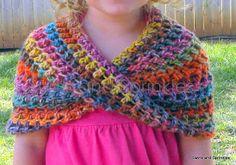 Swirls and Sprinkles: Crochet Summer Infinity Wrap Pattern ~k8~