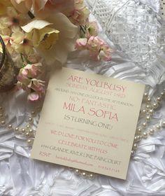 Invitations by The Paper Bride • custom order? Contact me today www.facebook.com/ThePaperBrideConsultantRebecca Invitation Design, Invitations, Order Contacts, Turning One, Rsvp, Bride, Facebook, Paper, Wedding Bride