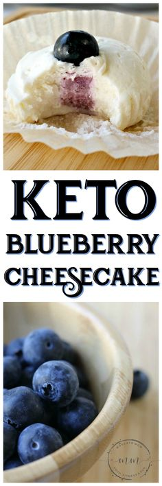 #ad Looking for a sweet treat that is low carb? These Keto No Bake Blueberry Cheesecakes feature delicious @FreshFromFL Blueberries that are in season right now! cheesecake/#FollowTheFresh #IC