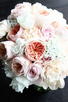 juliet garden rose roses lizzy carnations fringed tulips libretto parrot tulip allium sweet avalanche roses pink peach wedding bouquet balboa bay club newport