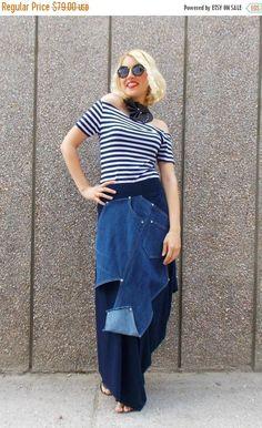 ON SALE Denim Skirt / Plus Size Navy Skirt / Extravagant https://www.etsy.com/listing/232911685/on-sale-denim-skirt-plus-size-navy-skirt?utm_campaign=crowdfire&utm_content=crowdfire&utm_medium=social&utm_source=pinterest