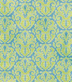 Premium Quilt Fabric-Bright Zinnias Bright Zinnias Damask --pillow or fabric basket/box