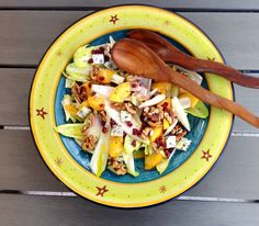 Zomersalade met witlof, nectarine & granaatappel