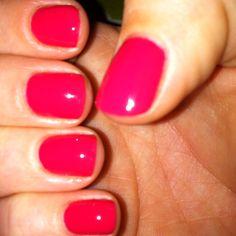 My new favorite spring color.  Essie Watermelon.