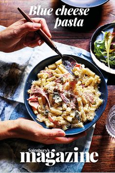 Chef Emily Roux shares her comforting recipe for blue cheese pasta. If you feel the need for some greens, throw some peas in with the pasta for the last couple of minutes of cooking, or simply wilt some spinach into the sauce Yummy Pasta Recipes, Cooking Recipes, Healthy Recipes, Tasty Meals, Savoury Recipes, Healthy Dinners, Cooking Ideas, Meat Recipes, Dinner Recipes