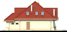 DOM.PL™ - Projekt domu DN Modena CE - DOM PC1-22 - gotowy koszt budowy Family House Plans, Dream House Plans, Beautiful Home Designs, Beautiful Homes, Beautiful Places, Home Building Design, Building A House, Kerala House Design, Kerala Houses