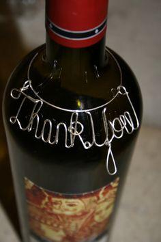 Wine Bottle charm Thank you wine bottle Tag by 1BentKeepsake, $19.95