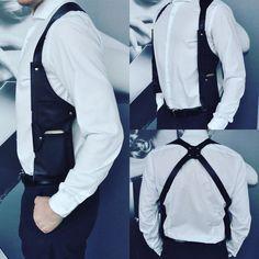 Black leather shoulder holster bag / backpack body wallet for formal clothing / travel vest holster anti-theft utility pocket bag for men Leather Men, Black Leather, Tooled Leather, Leather Jackets, Phone Holster, Utility Vest, Leather Holster, Simple Bags, Backpack Bags