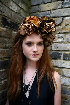 Bonnie Wright is so beautiful! and I love her hair flowers!