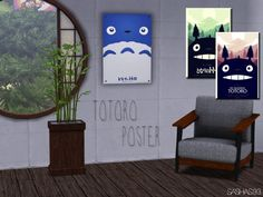 Sashas93: 3 posters with Totoro • Sims 4 Downloads