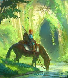 Tribute to the Legend of Zelda by Jeremy Fenske - Breath of the Wild #nintendo #fanart